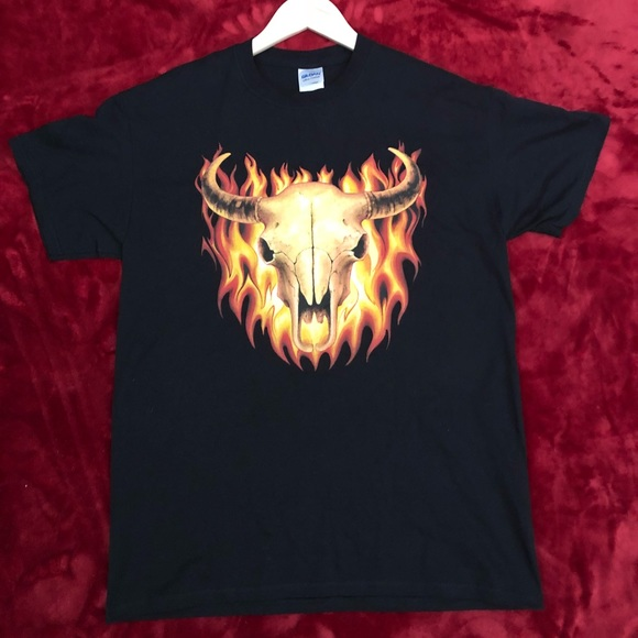 Tops - Flamed Bullhead Tshirt